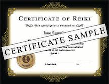 They Are Available For Reiki I II And Master Levels You May Order Individual Customized Certificates With This Option That Include Your